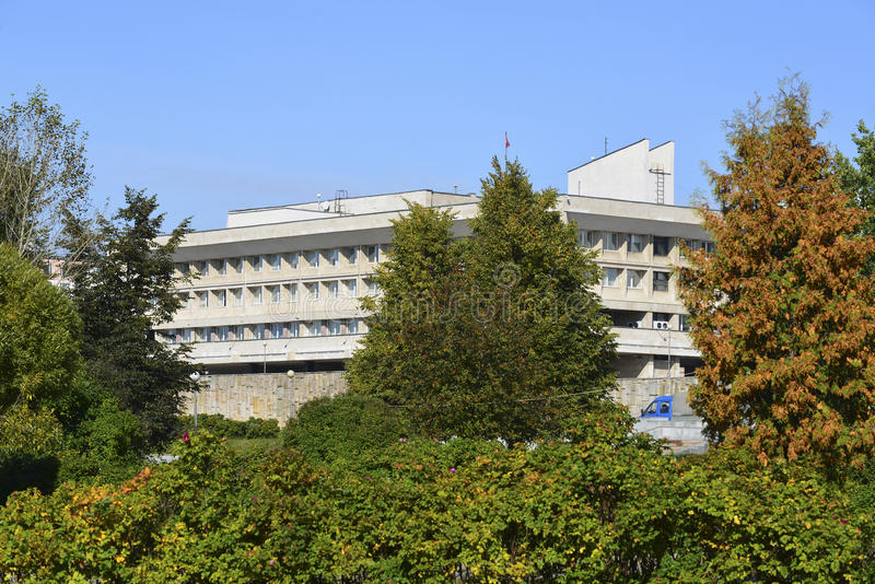 Zelenograd,俄罗斯- 9月16 2015年 Zelenograd管理区域专区  免版税库存图片