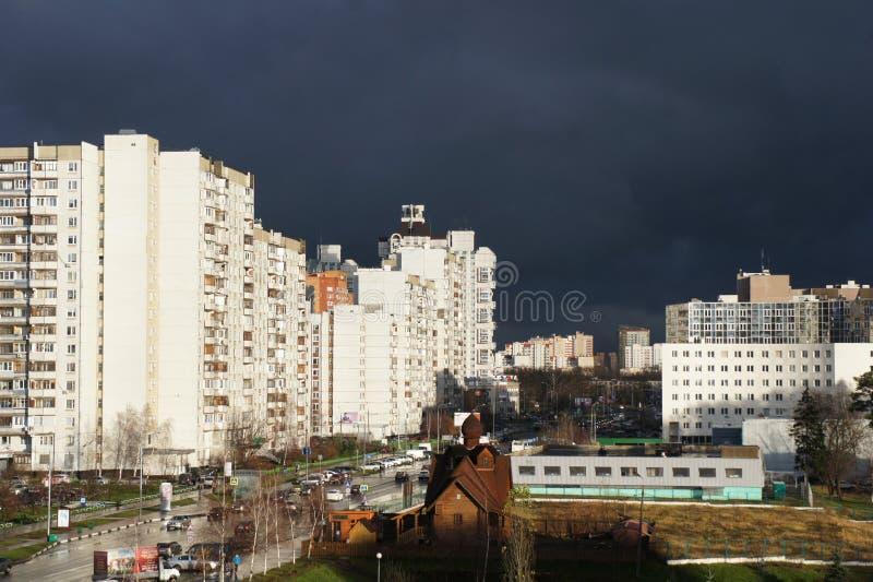 Download Zelenogradskiy District Of Moscow Stock Image - Image of rain, street: 83716725