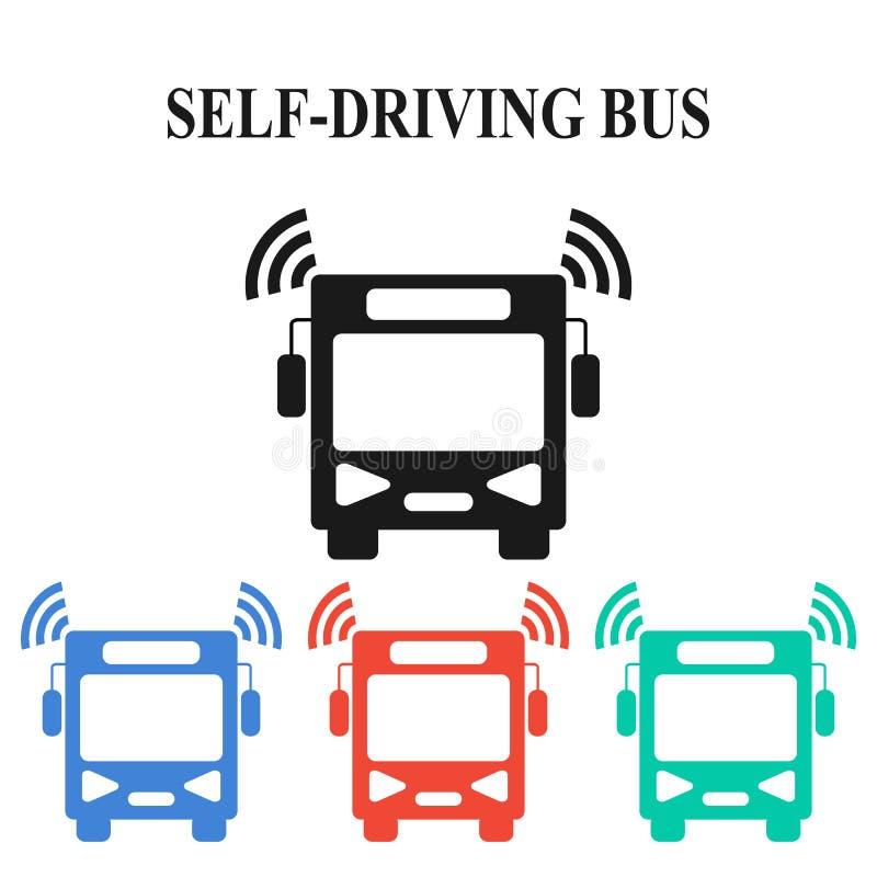 Zelf-drijft bus stock illustratie