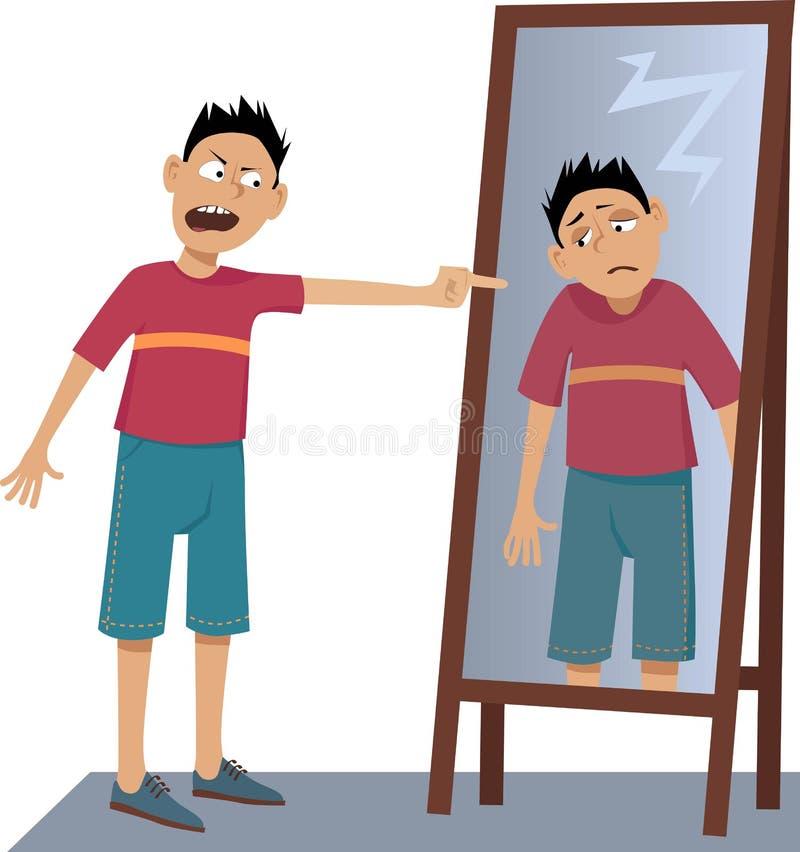 Zelf-haat royalty-vrije illustratie