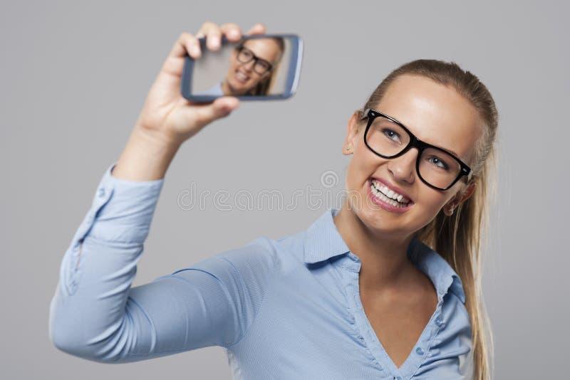Zelf-portret stock afbeelding