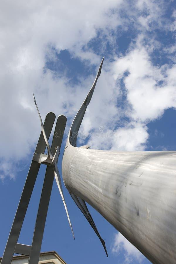 Zelfbeschikkingsvermogen openbaar beeldhouwwerk in Lincoln City Centre, Lincoln, Li royalty-vrije stock afbeelding
