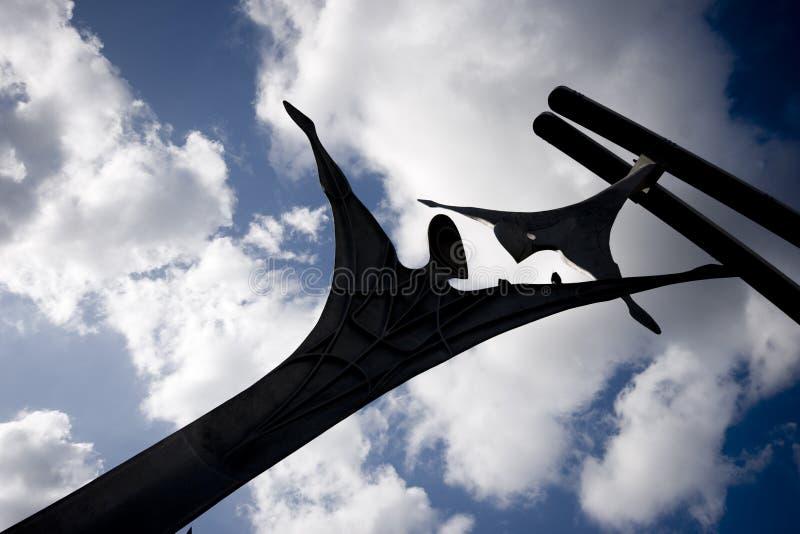 Zelfbeschikkingsvermogen openbaar beeldhouwwerk in Lincoln City Centre, Lincoln, Li royalty-vrije stock foto's