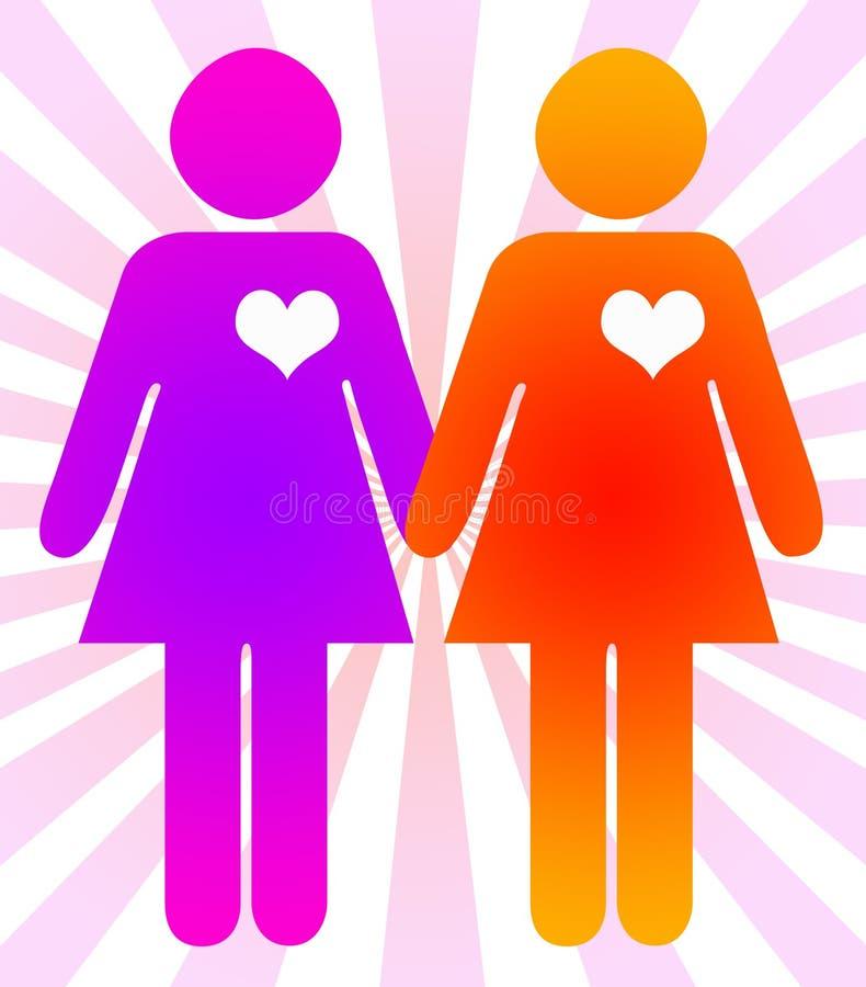 zelfde-geslachts huwelijk royalty-vrije illustratie