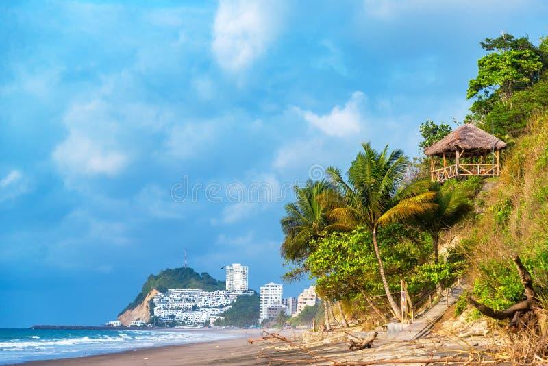 Zelfde, het Strand van Ecuador stock afbeeldingen