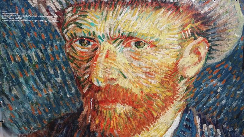 zelfportrait Vincent van Gogh stockbilder