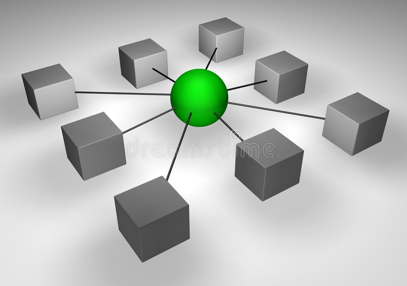 ZELFS NETWERK royalty-vrije illustratie