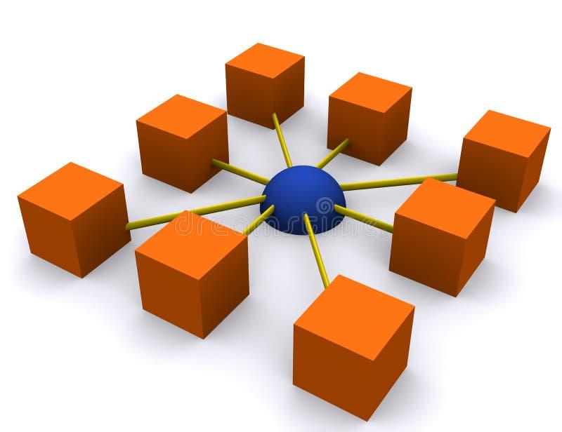 Zelfs netwerk vector illustratie