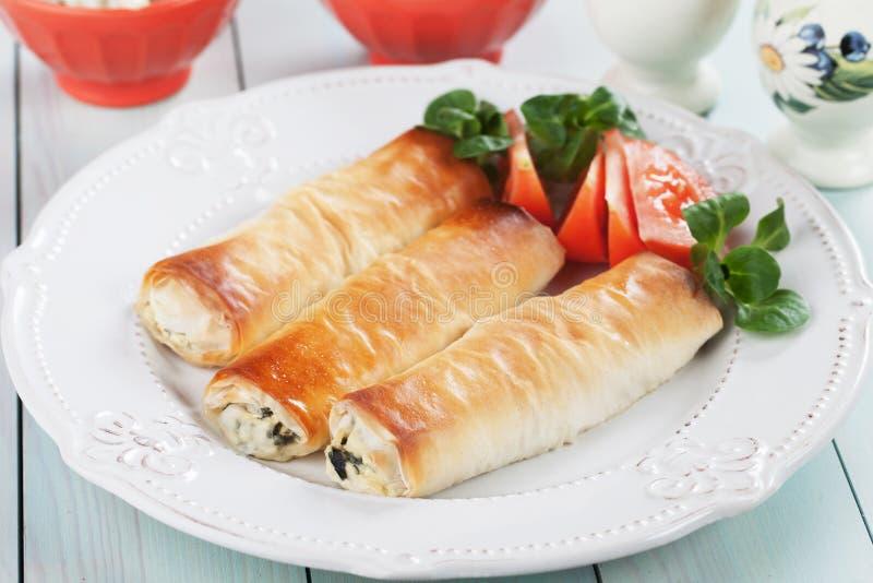 Zeljanica della pita, pasto della pasticceria di phyllo dei Balcani immagini stock