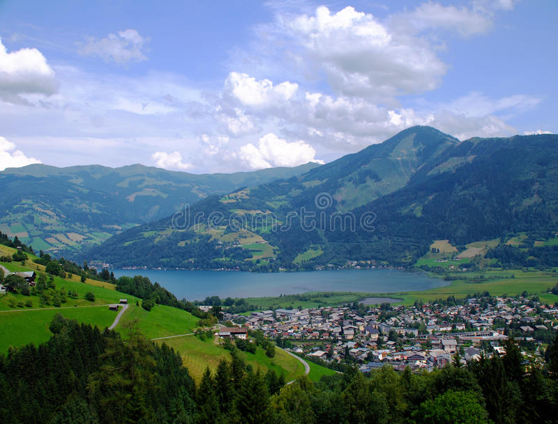 Download Zell Am See stock photo. Image of mountain, getaway, remote - 10427662
