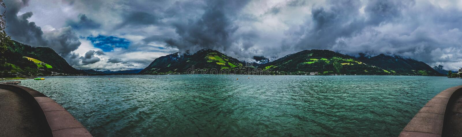 Zell am See Panorama stock image
