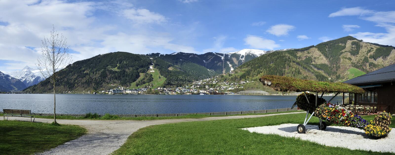 Download Zell am See stock photo. Image of airplane, destination - 40200154