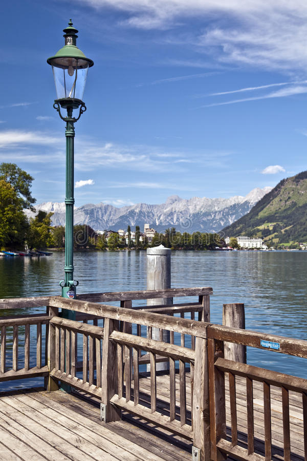 Zell am ziet meer Oostenrijk stock fotografie