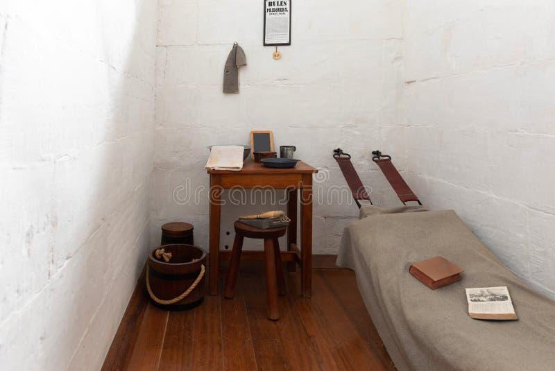 Zelle bei Port-Arthur Historical Convict Settlement, Tasmanien, Australien lizenzfreies stockfoto