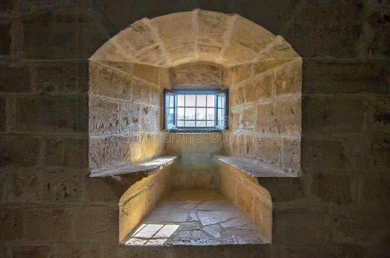 Zelle im alten Fort stockfoto