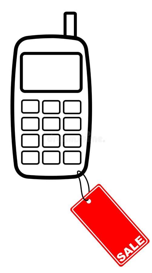 Zelle mit Verkaufskennsatz vektor abbildung
