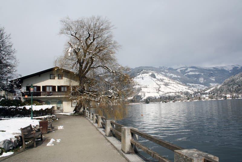 Zeller vê o lago Áustria fotografia de stock
