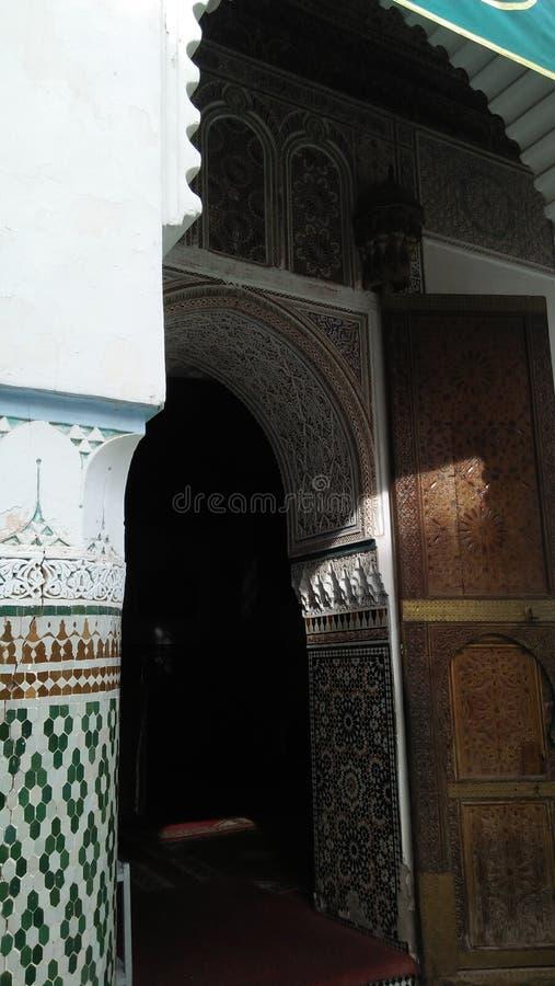 Zellig摩洛哥传统建筑学艺术大厦 库存照片