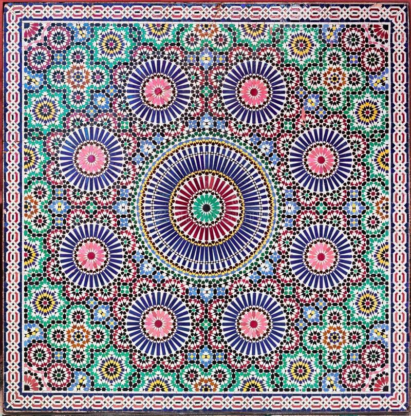 Zellige płytki od Maroko obraz stock