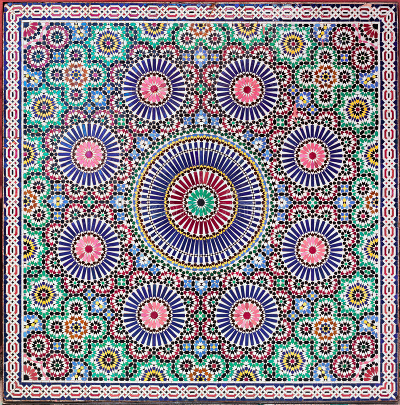 Zellige tiles from Morocco stock image