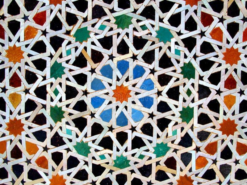Zellige, tuiles de mosaïque marocaines image stock