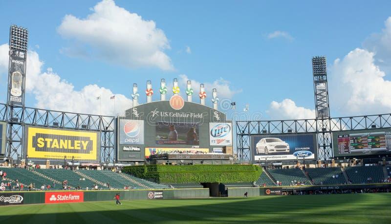 Zelluläres Baseball-Feld US lizenzfreie stockfotos