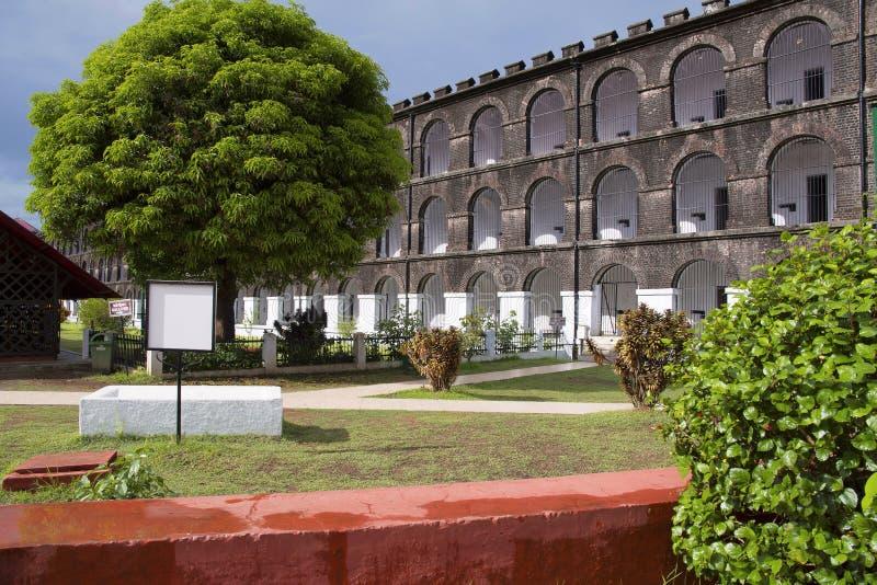 Zelluläres Gefängnis, Port Blair, Andaman-Inseln stockbild