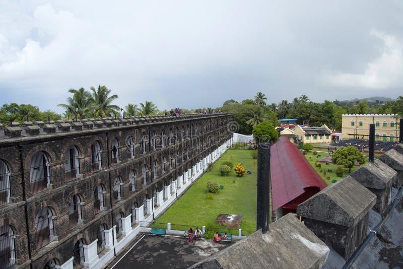 Zelluläres Gefängnis, Port Blair, Andaman-Inseln lizenzfreies stockbild