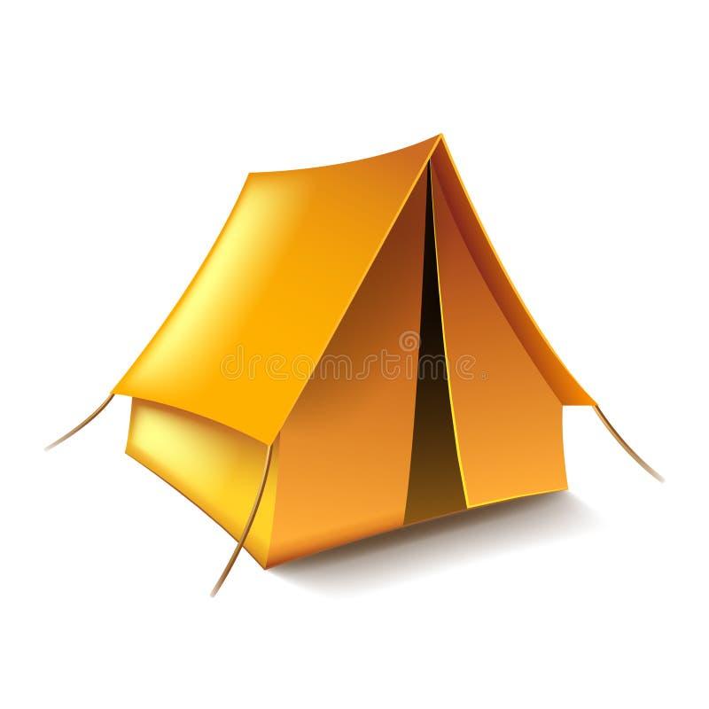 Zelt auf weißem Vektor lizenzfreie abbildung