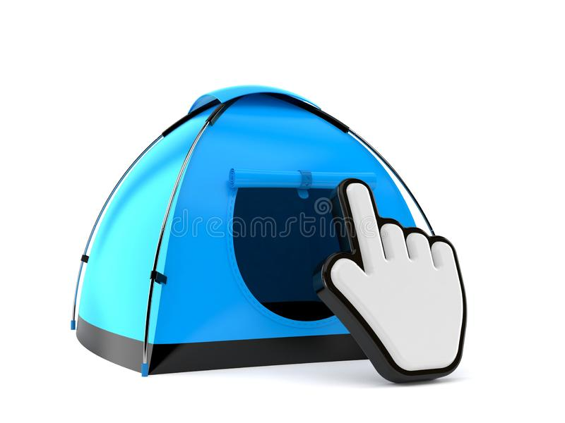Zelt mit Netz-Cursor stock abbildung