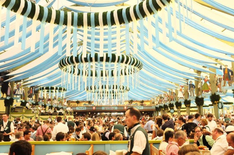 Zelt (Oktoberfest 2013) stockfoto