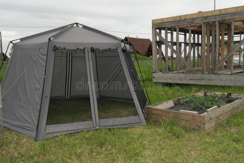 Zelt, zum im Land zu bleiben stockfotos