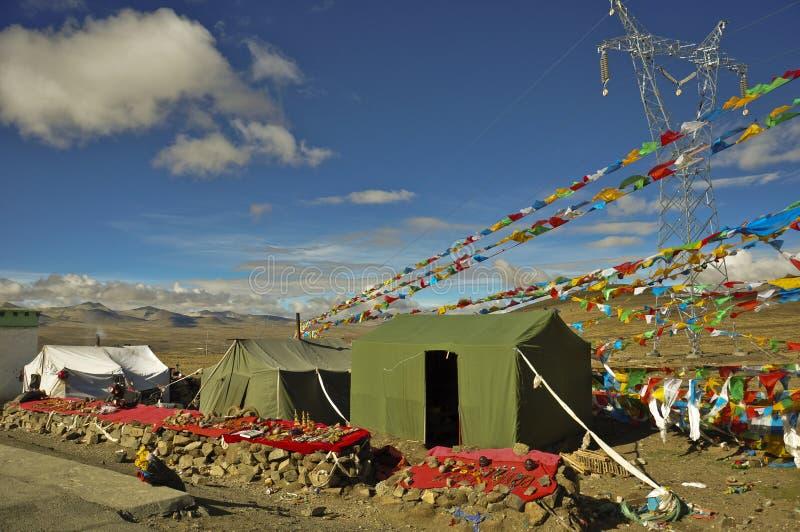 Zelte im Berg lizenzfreies stockfoto