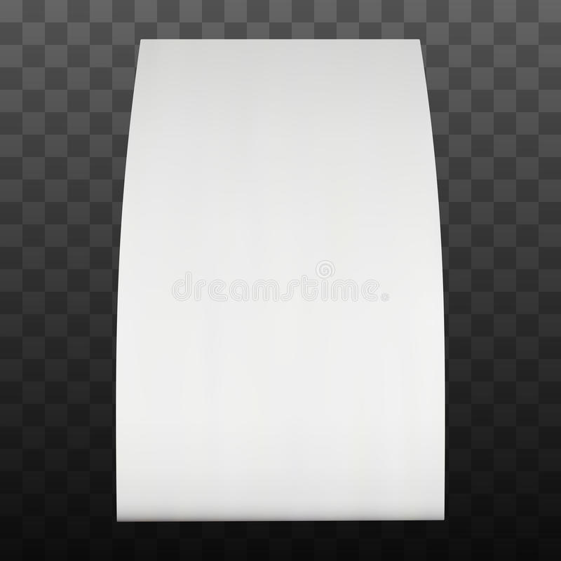 Zeltkarte des leeren Papiers Vektor stock abbildung