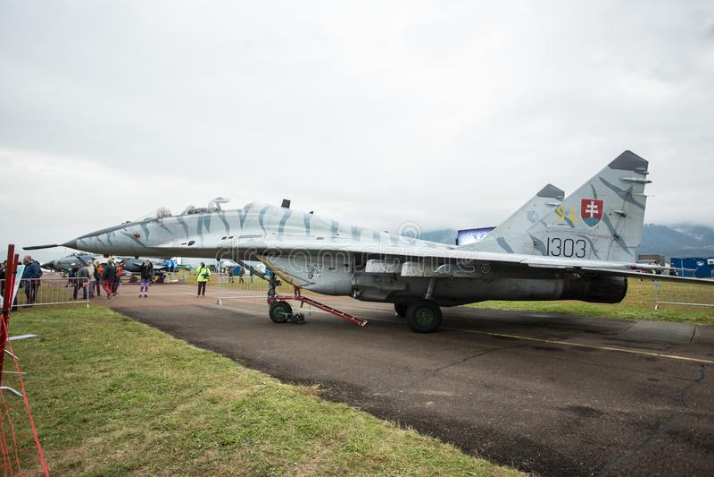 Zeltweg, Austria / Austria- SEPTEMBER 06 2019: Airpower 2019, air show royalty free stock images