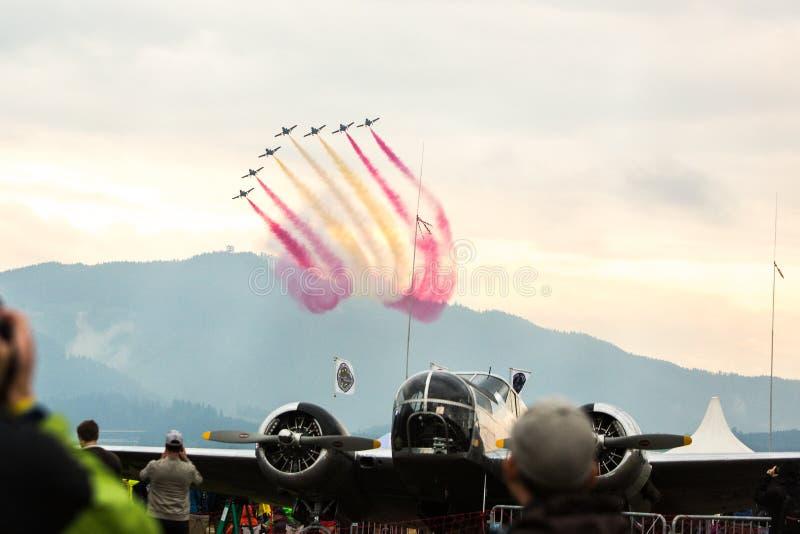 Zeltweg, Austria / Austria- SEPTEMBER 06 2019: Airpower 2019, air show royalty free stock photography