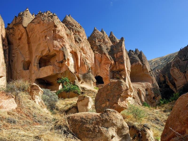 Zelve, Cappadocia,土耳其 免版税图库摄影