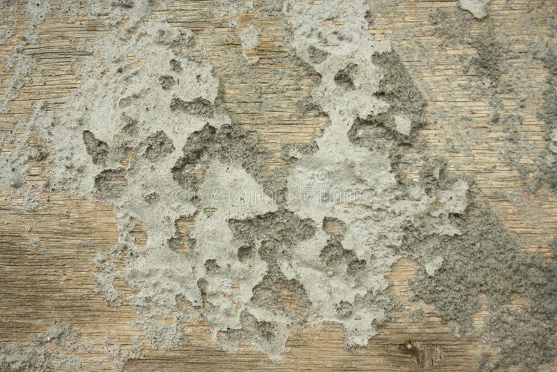 Zement auf Holz lizenzfreies stockfoto