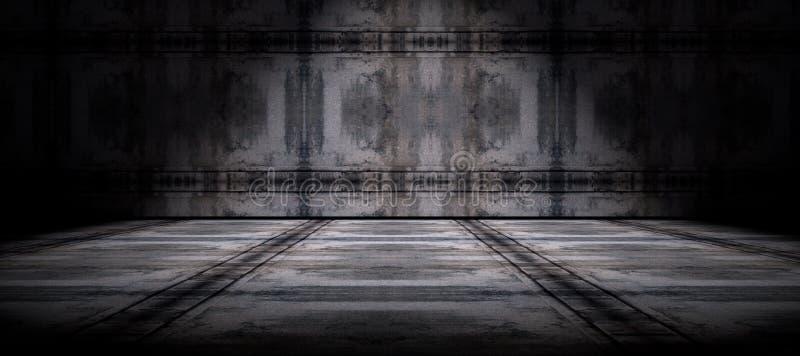 Zementboden und Wandhintergrund lizenzfreie abbildung