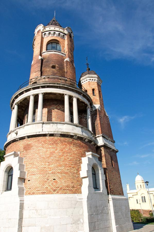 Zemun, Serbia: Millennium Tower at Gardos. Millennium Tower was built at 1896 to celebrate a thousand years of Hungarian settlement in the Pannonian plain. It is royalty free stock photography