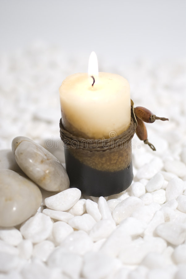 Zen Aromatic candles royalty free stock photos