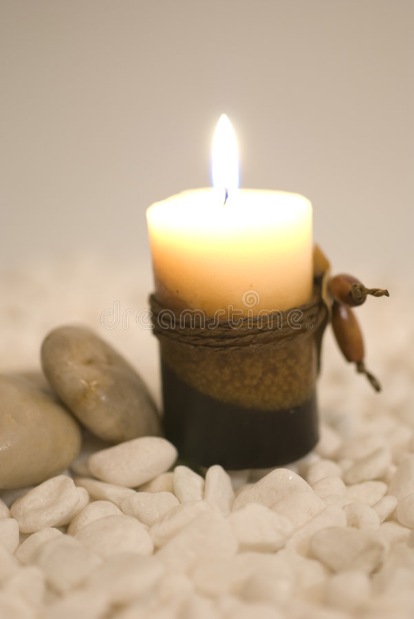 Zen Aromatic candles royalty free stock photo