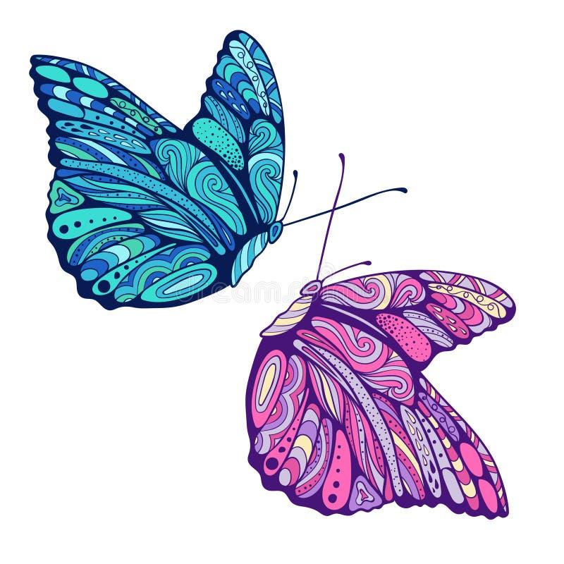Download Zen Art Butterflies Stock Vector Illustration Of Coloring