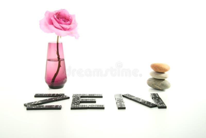 Zen atmosphere, vase and rose