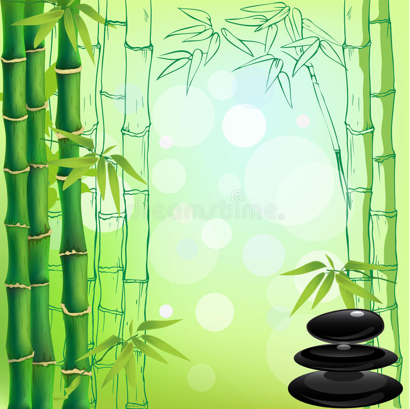 Zen background royalty free illustration