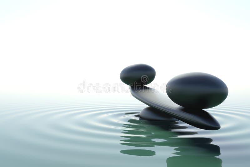 Zen Balance. A balance stone in a zen water