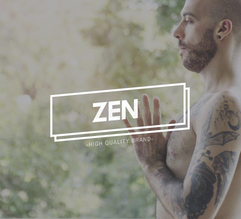 Zen Balance Health Live Life-Bedachtzaam de Ademconcept van de Staat royalty-vrije stock foto's