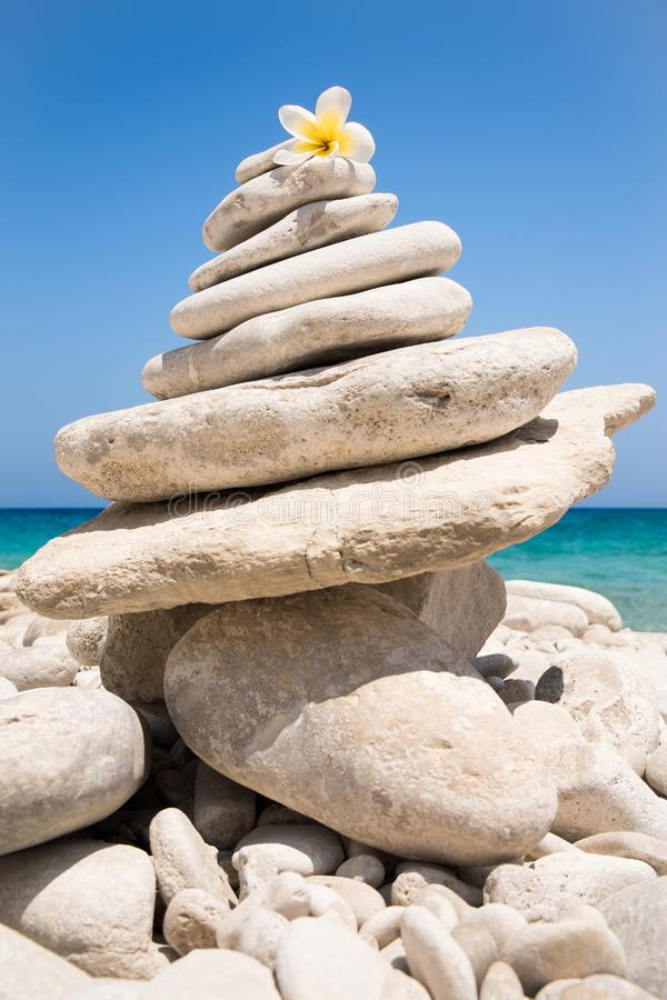 Zen balance and meditation practise stock images