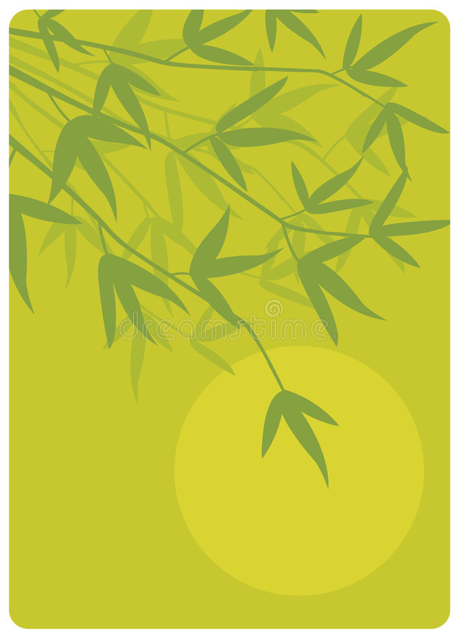 Zen Bamboo. Zen style bamboo vector illustration useful to illustrate peace, meditation, harmony, etc royalty free illustration