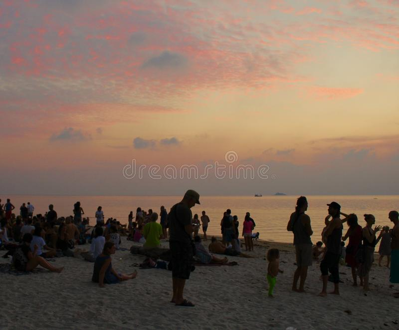 Zen Beach, Koh Phangan, Thaïlande photo stock